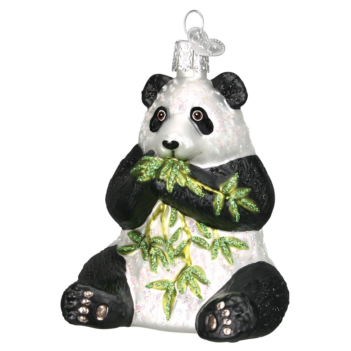 Old World Christmas Ornaments: Panda Glass Blown Ornaments for Christmas Tree