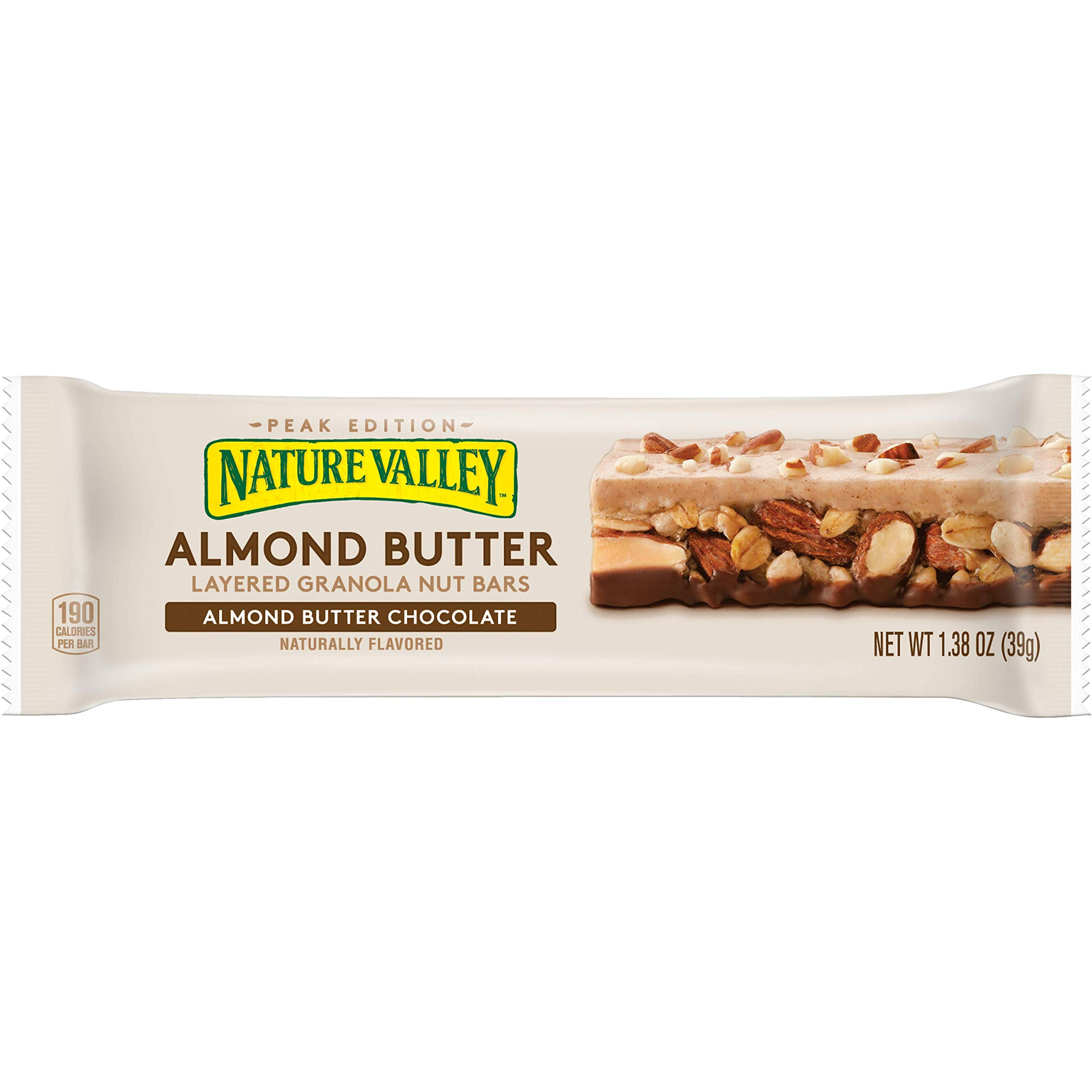 Nature Valley Three Layered Bar Almond Butter Chocolate, 11 Pound (Pack of 120)