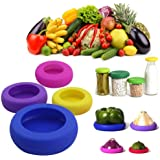 Silicone Food Savers - Food Huggers Storage Cover,Random Color,Set of 4 By ML.PRODUCTS