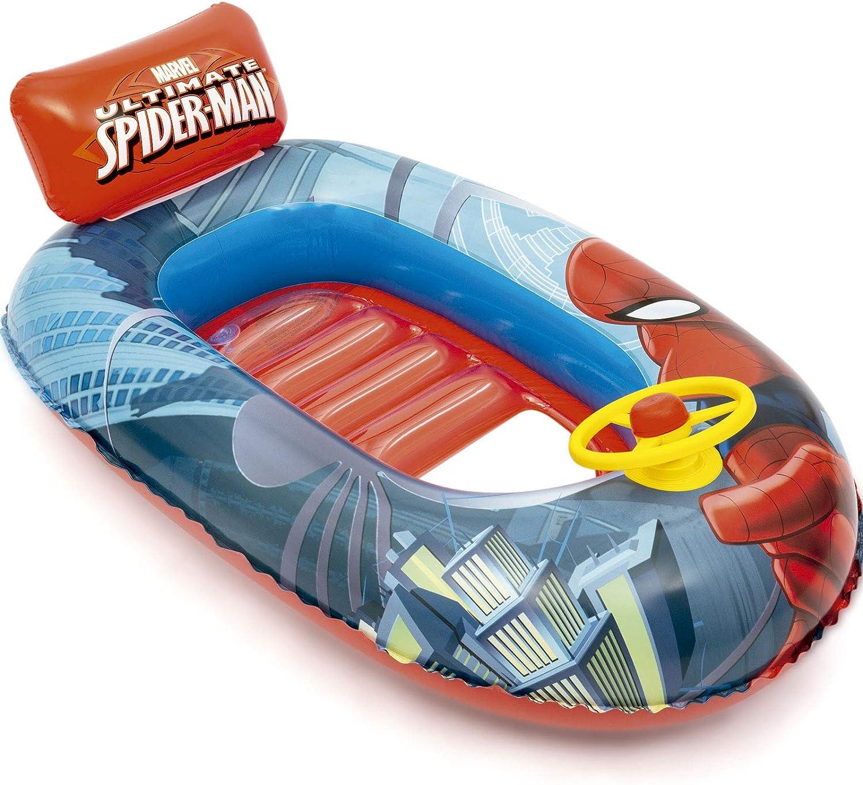 Bestway 98009 - Barca Hinchable Infantil Spiderman 112x71