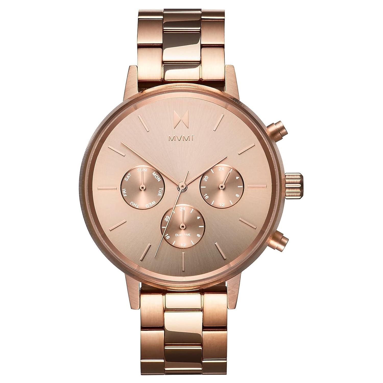 MVMT Reloj Cronógrafo para Mujer de Cuarzo con Correa en Acero Inoxidable D-FC01-RG: Amazon.es: Relojes
