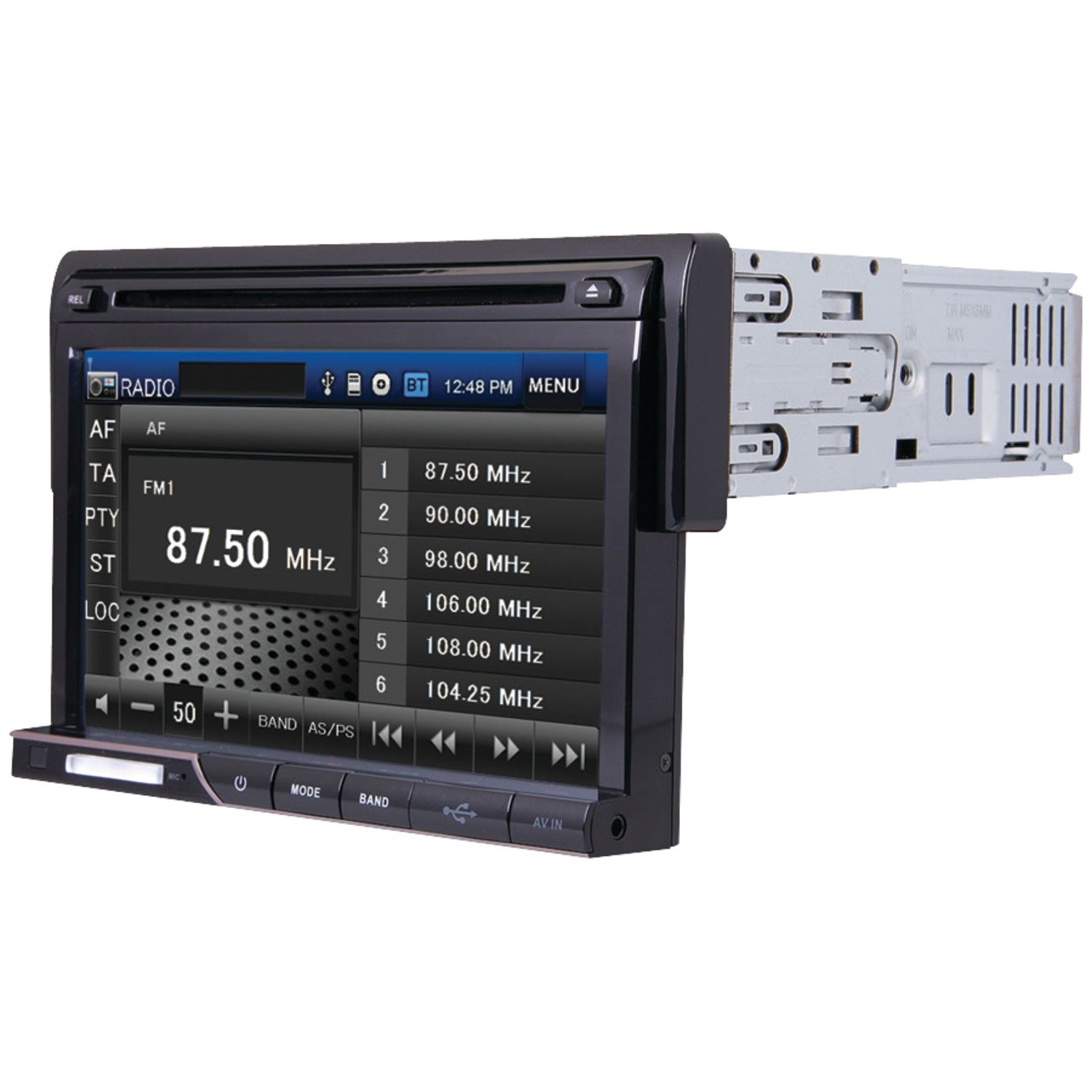 Amazon.com: POWER ACOUSTIK PD-710 Single DIN Multimeadia Source with  Detachable 7-Inch Oversize LCD Touchscreen: Car Electronics