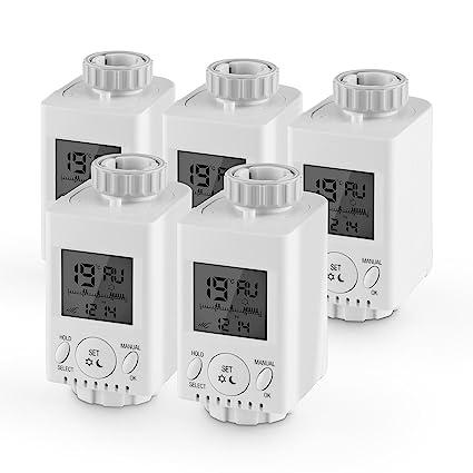 Duramaxx HT-31-5 Termostato para radiadores 5 piezas incl. adaptadores para válvula