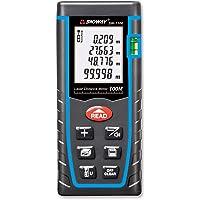 SNDWAY Laser Distance Measure SW-T100 Digital Laser Rangefinder 100M Distance Meter Tape Measure Area Volume with Bubble…
