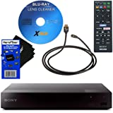 Sony BDP-S3700 Blu-Ray Disc Player with Built-in Wi-Fi + Remote Control + Xtech Blu-Ray Disc Laser Lens Cleaner + Xtech High-Speed HDMI Cable w/Ethernet + HeroFiber Gentle Cleaning Cloth