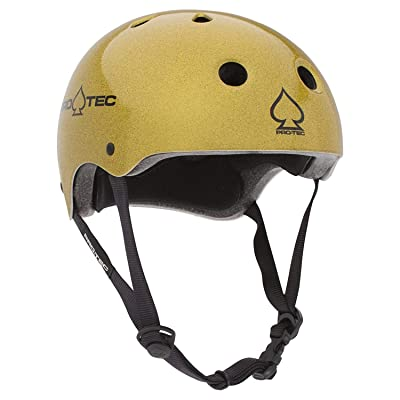Pro-Tec Classic Skate Flake Helmet Gold M : Sports & Outdoors