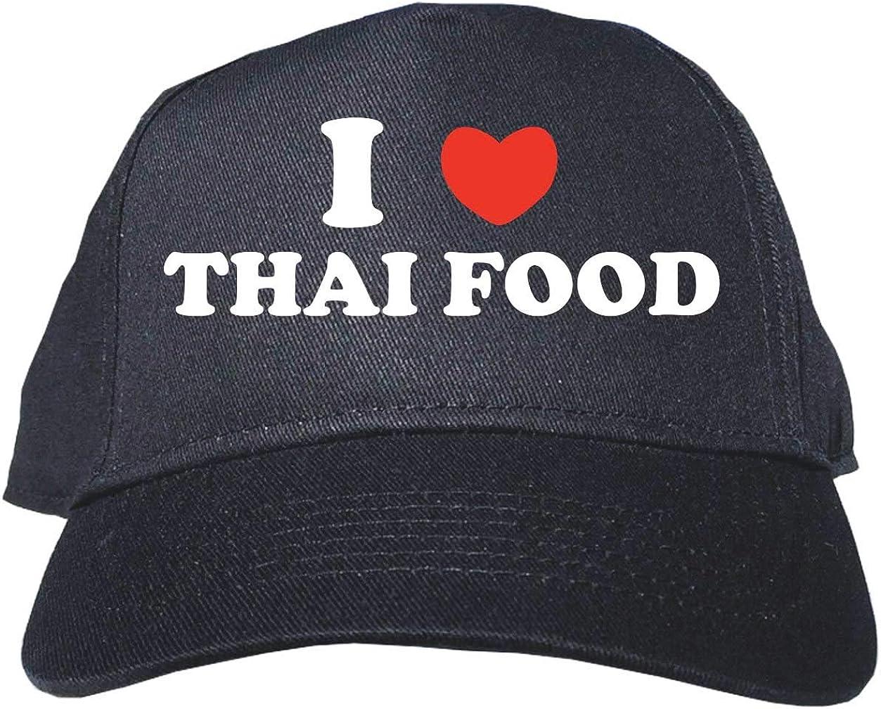 I Heart Love Thai Food Adult Baseball Hat Cap Adjustable Black