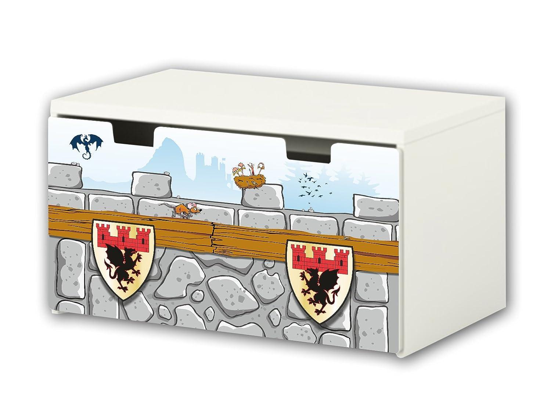 Knight Furniture Film | BT21 | Furniture sticker with butterfly Motive | matching to the children's storage bench STUVA of IKEA (90 x 50 cm) Furniture Not Included | STIKKIPIX STIKKIPIX®