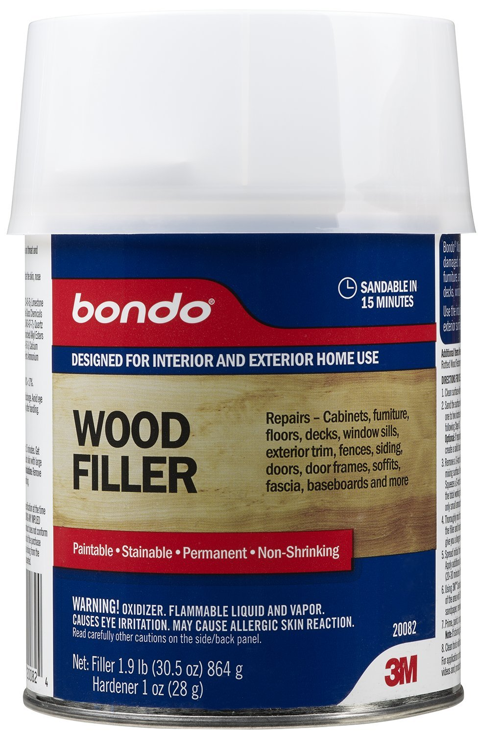 how to use wood filler on a door