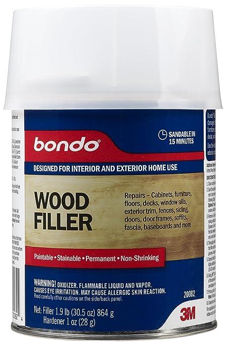 3m Bondo Home Solutions Wood Filler Wood Fill Amazon