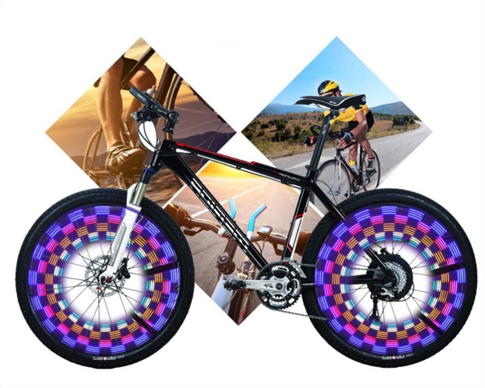 LED Bicycle Wheel Light 42 Styles Bike Spoke Lights Night Rider Decoration Safety & Warning by BuryTony (Image #5)