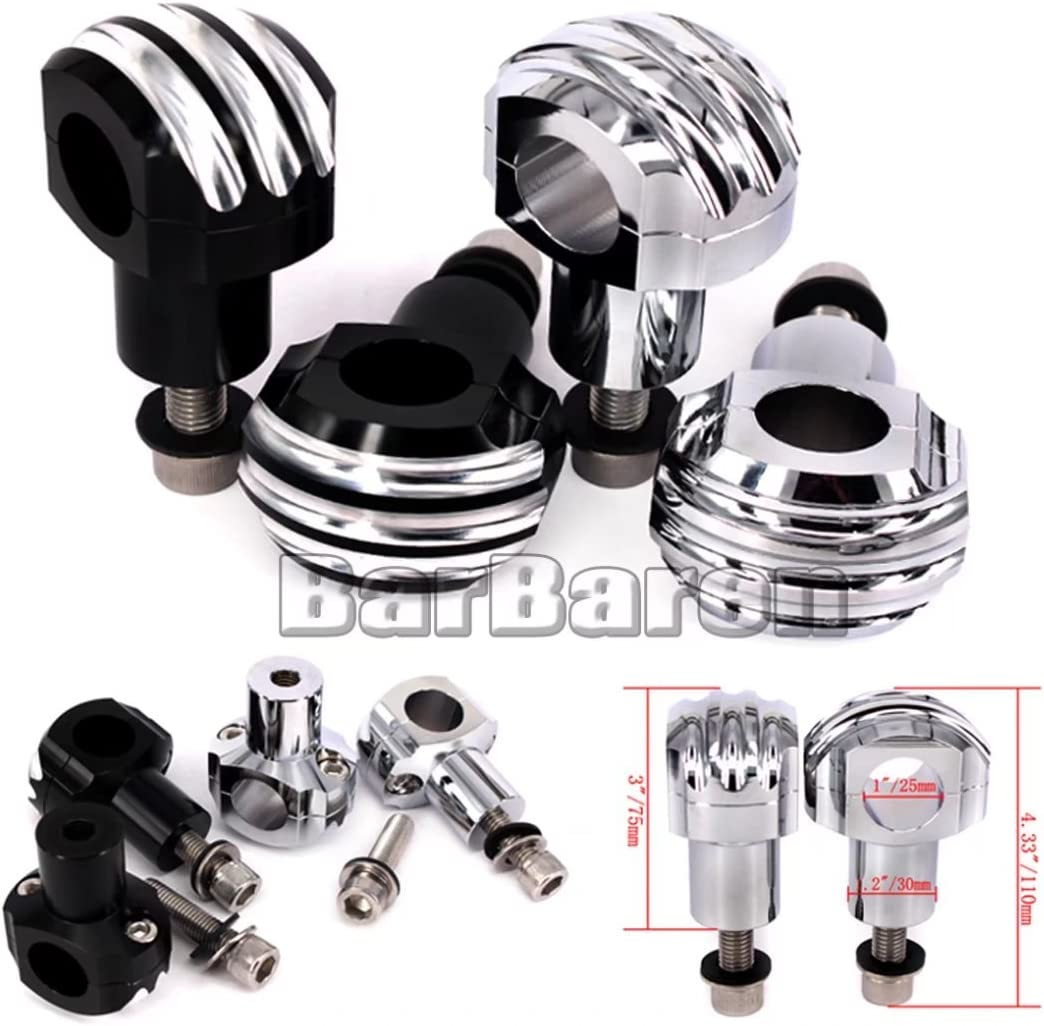 "1/"" Chrome Handlebar Risers For Harley Dyna Sportster Softail Electra Glide XL883"