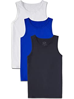 3 Pack Shirt Fruit of the Loom Boys Solid Multi-Color Soft Tank Tops