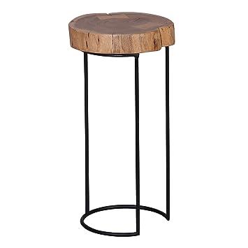 Wohnling Beistelltisch Massiv Holz Akazie Wohnzimmer Tisch