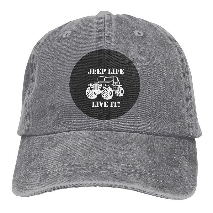 06692daf Amazon.com: Arsmt Jeep Life Denim Hat Adjustable Men Great Baseball ...