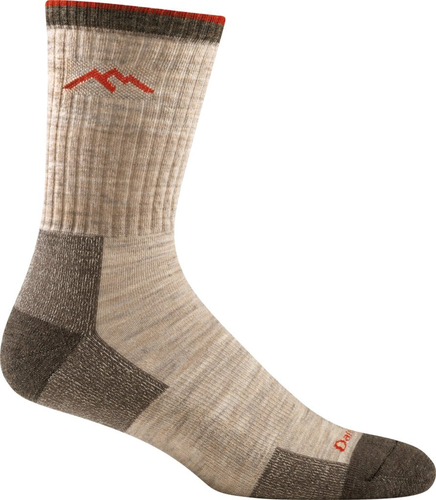 Darn Tough Men's Merino Wool Hiker Micro Crew Cushion Sock (Style 1466) - 6 Pack (Oatmeal, Large)