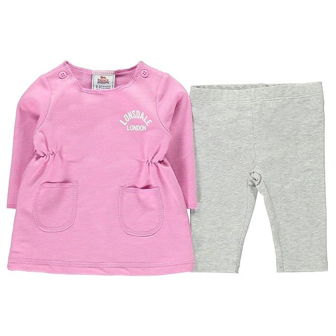 Lonsdale Bebé-Niñas Logo Conjunto De Vestido Y Leggings: Amazon.es: Ropa y accesorios