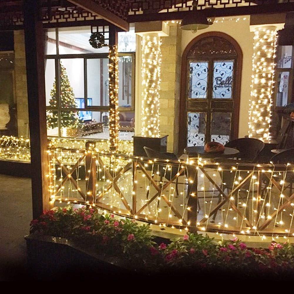 OUYANGLED fee-snoer lichtnet aangedreven outdoor lichtketting multicolor 8 modi waterdicht voor party woonkamer slaapkamer terras tuin Kerstmis blauw-100 m.2000 leds