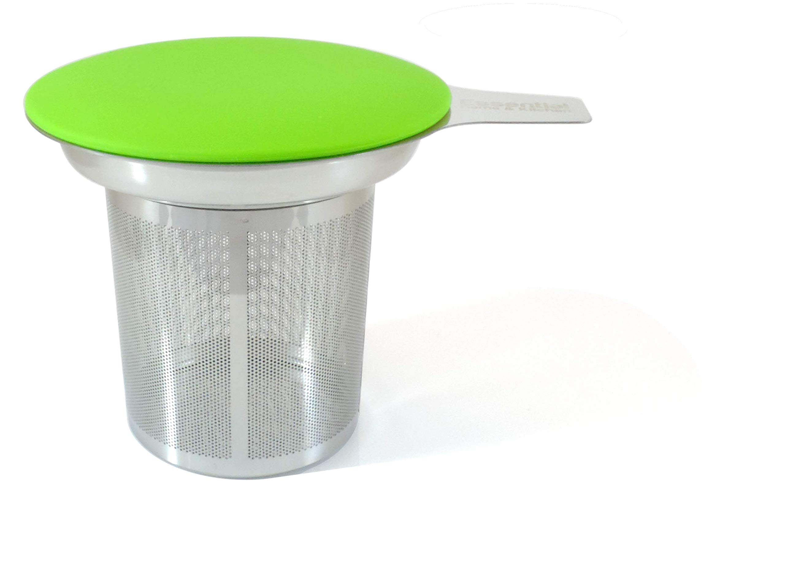 Best Loose Leaf Tea Infuser & Herbal Tea Steeper - Brews, Strains & Steeps Single Cup of Extra Fine Tea - Dishwasher Safe Silicone Top and Stainless Steel Tea Tumbler Basket & Infuser by Essential Home & Kitchen (Image #1)