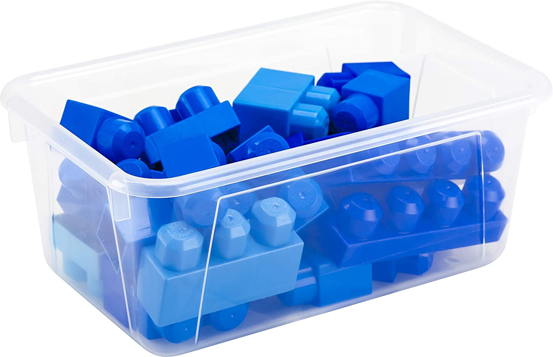 12.2 x 7.8 x 5.1 Inches 62477U05C 5-Pack Candy Green Storex Small Cubby Bin