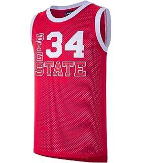 JOLISPORT Jesus Shuttlesworth  34 Big State He Got Game Movie Basketball  Jersey Red 4f005f7cd