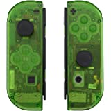 eXtremeRate Transparent Clear Green Joycon Handheld Controller Housing with Full Set Buttons, DIY Replacement Shell Case…