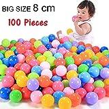 TruGood 100 Piece Colorful Fun Balls Soft Plastic Ball Pit Balls Baby Kids Tent Swim Toys Ball