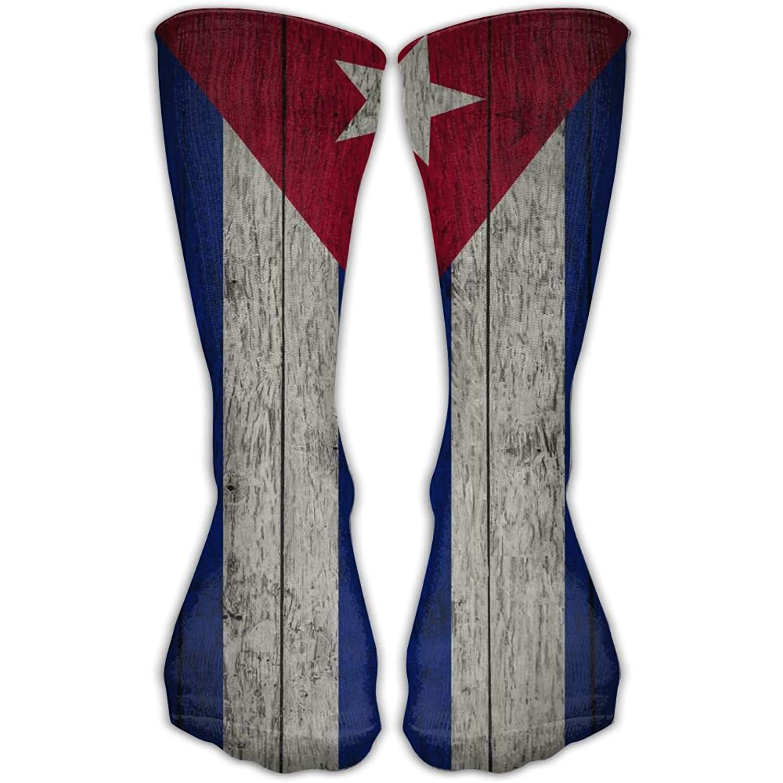 3D Printing Retro Cuban Flag Unisex Crew Socks Short Sports Socks