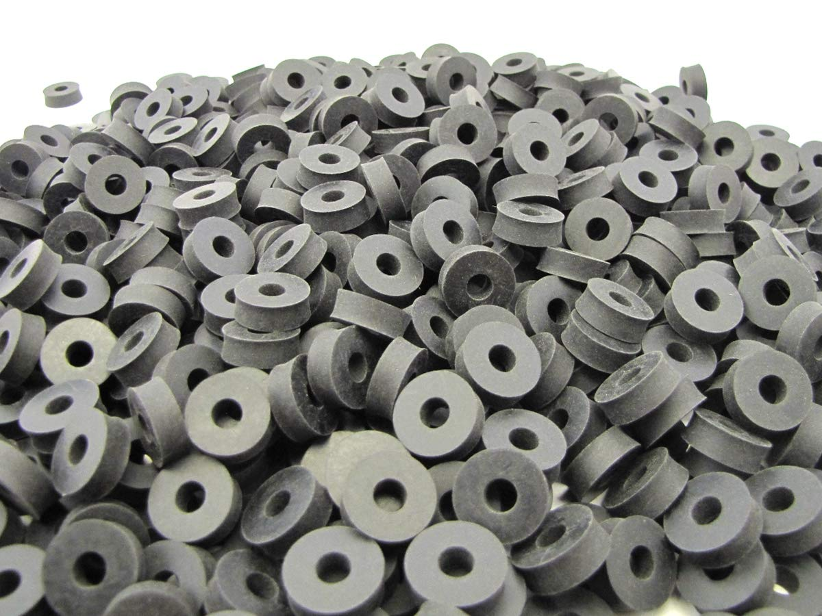 (100) Thick Neoprene Rubber Washers 3/4'' OD X 1/4'' ID X 1/4 Inch Thickness - 60 Duro
