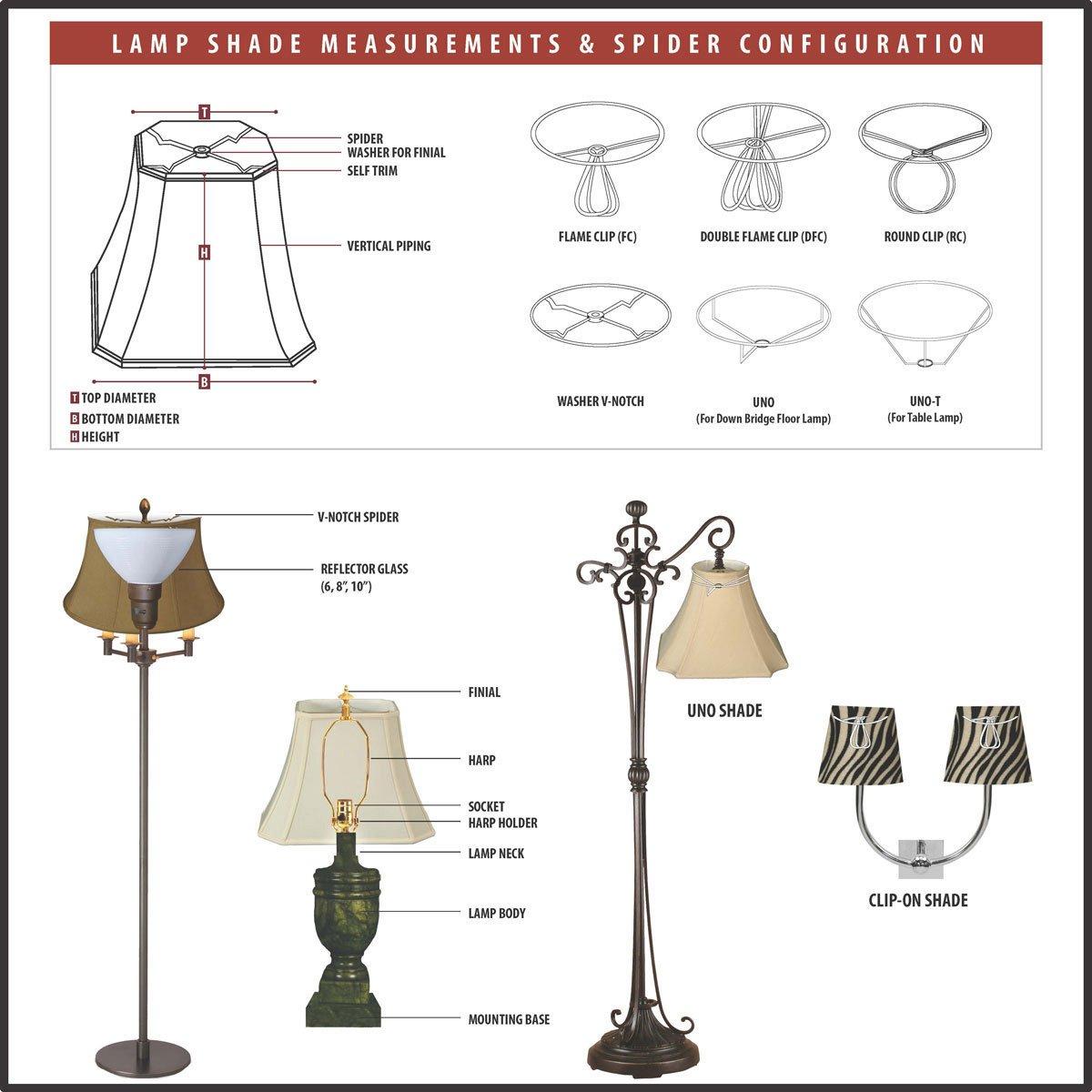 Eggshell Royal Designs CS-923-6LNEG Linen Chandelier Lamp Shade