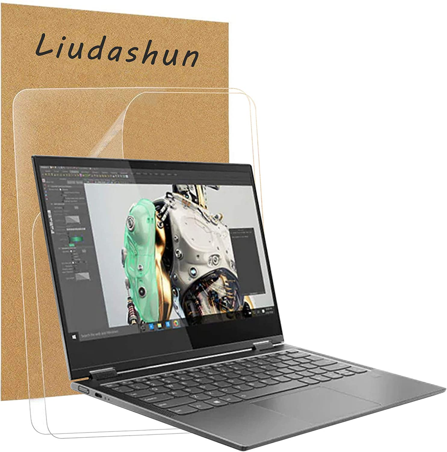 """Liudashun Screen Protector for Lenovo Yoga C630 WOS 2018 13.3"""" Laptop HD Clear Invisible Glossy Scratchproof(2-Pack)"""
