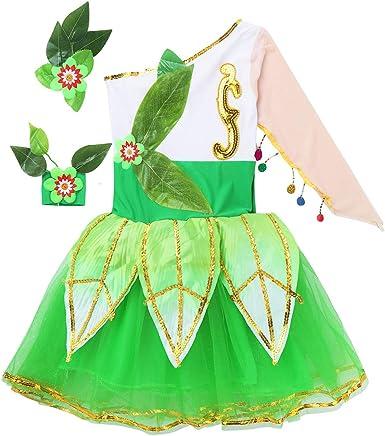 dPois Disfraz Bailarina Niña (2-14 Años) Vestido de Danza Ballet ...
