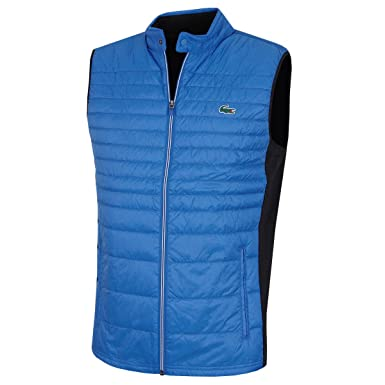 7a4d3ed59 Lacoste Mens BH9536 Quilted Technical Golf Vest  Amazon.co.uk  Clothing