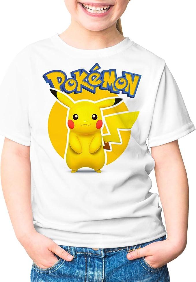 Camiseta Niña - Unisex Pokémon, Pikachu: Amazon.es: Ropa y accesorios