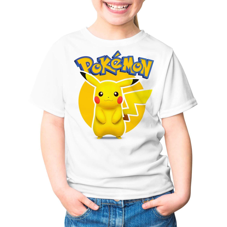 Camiseta Ni/ña Pikachu Unisex Pok/émon