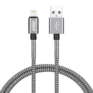 Cable USB para iPhone, Sephia, con resorte reforzado y trenzado para cargar con conector de iluminación [certificado Apple MFi], larga vida útil de ...