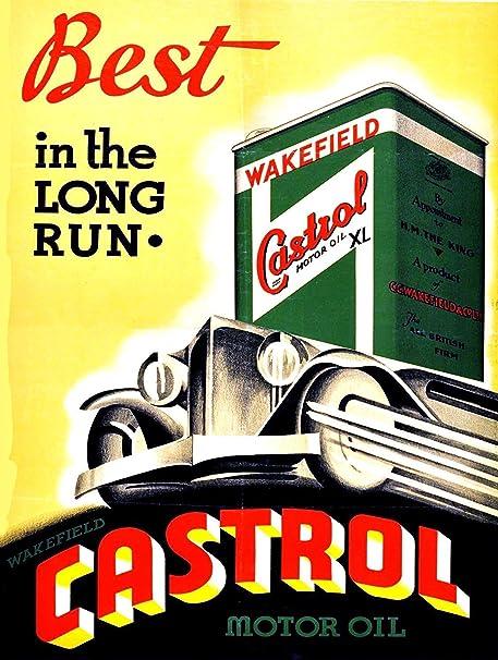 Shunry Castrol Motor Oil Placa Cartel Vintage Estaño Signo ...