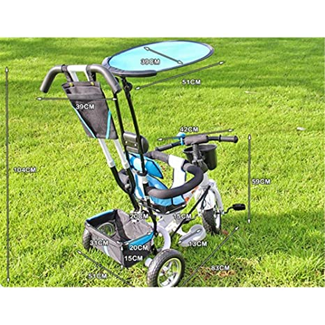 4 en 1 bebé Cochecito de tres ruedas Carriage Bike Bicicleta ...