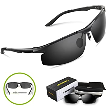 sports frames glasses l1ep  Torege Men's Sports Style Polarized Sunglasses For Cycling Running Fishing  Driving Golf Unbreakable Al-Mg