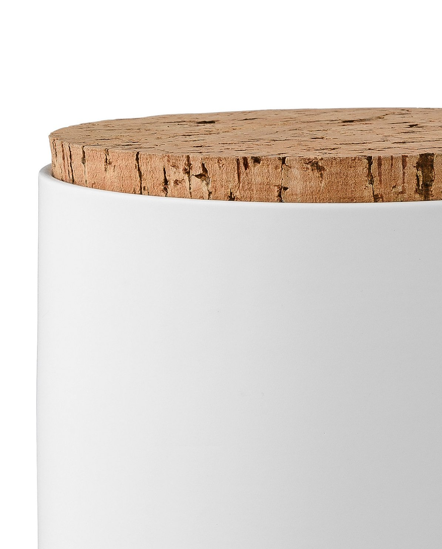 Bloomingville Tarro blanco con tapa de corcho