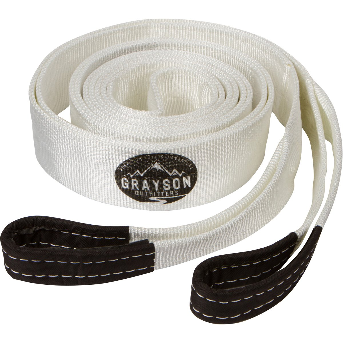 Grayson Outfitters Recovery Strap 20 Foot, 30,000 LBS; Heavy Duty Tow Strap And 4x4 Off Road Hauling Sling Best Suited For All Types Of Adventures