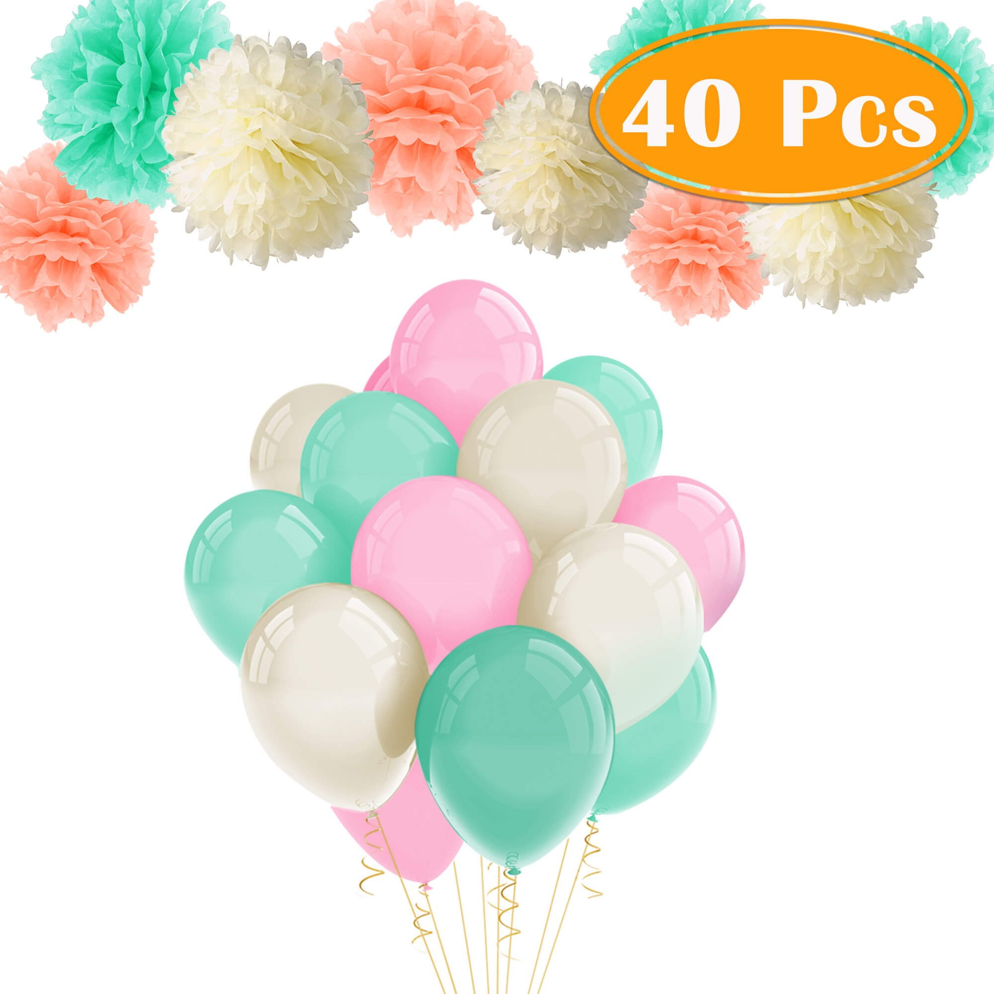 Paper Tissue Pompoms for Celebrations /& Events : Neutral Color Flower Decorations White, Ivory, Peach, Champagne Epique Occasions Weddings Party Decor Pom Pom Set Birthday Baby /& Bridal Showers 20 pcs