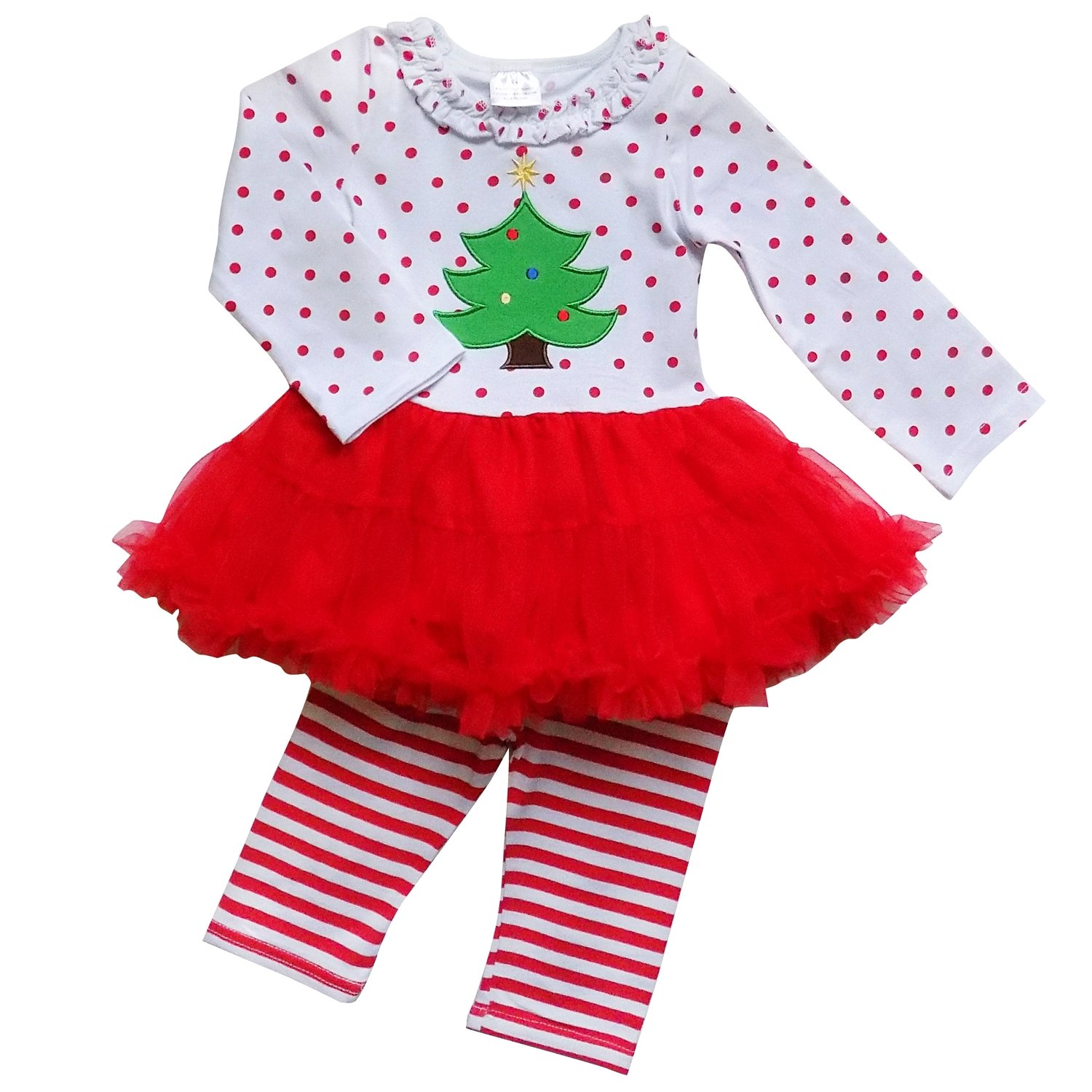 So Sydney Toddler 2 Pc Christmas Ruffle Pant Tunic Top Holiday Girls Boutique Clothing Outfit 3PCSO-TPL