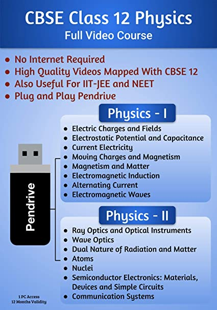 CBSE Class 12 Physics Full Video Lessons PenDrive: Amazon in