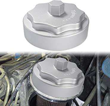 Amazon Com Aluminum Fuel Filter Housing Cap Fit For 2010 2020 Dodge Ram 2500 3500 4500 5500 6 7l Cummins Diesel Engine Silver Automotive