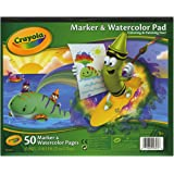 Crayola Marker and Watercolor Pad 10 x 8 Inches , 50 pages