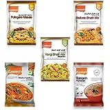 Eastern Vegetarian Combo Puliogare Masala, Bisibelebath and Vangi Bhath Mix, Madras Sambar, Rasam Powder, 100g - Pack of 5