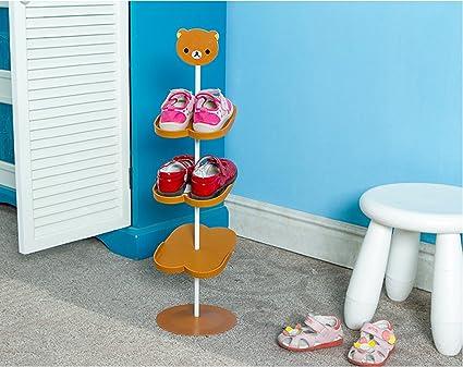 Addfun Kid Shoe Rack,Creative Floor Style Rotating Shoe Storage Rack Three  Dimensional Cartoon Children