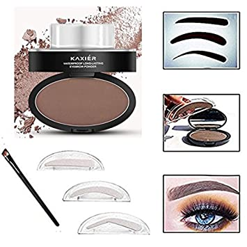 Amazon Taipo 3 Stencils Waterproof Eye Brow Stamp Perfect Eyebrow Power Seal Nature Delicate Shape Makeup Fashion Unique Powder For Eyebrows