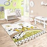 Tappeto Per Bambini Camera Dei Bambini Taglio Sagomato Baby Giraffa Beige Crema Colori Pastello, Dimensione:120x170 cm